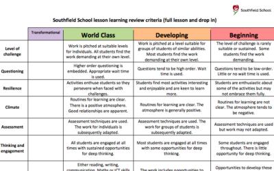 Undervisning i världsklass – 12 dimensioner